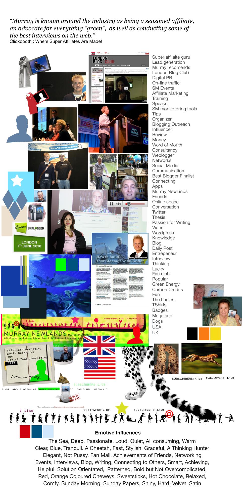 Redesign #4 Moodboard MurrayNewlands.com by Katja Garrood of Brand Watch