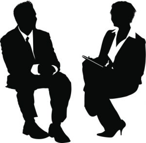 Businesspeople job interview